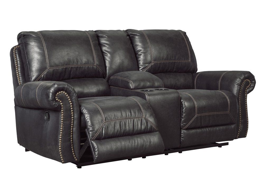 Ashley Furniture Signature Design Milhaven Faux Leather Upholstered Double Power Reclining Lo Ashley Furniture Living Room Love Seat Double Recliner Loveseat