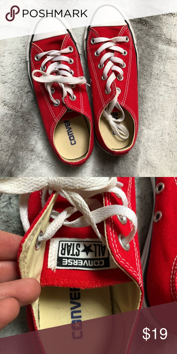 a532419be5fc CONVERSE Size 6 women s converse in red. Converse Shoes Sneakers ...