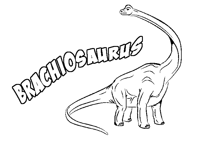 Print coloring page and book, Brachiosaurus for kids of all ages ...