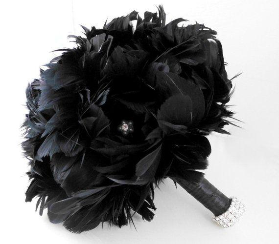 bouquet de fleurs noires et blanches
