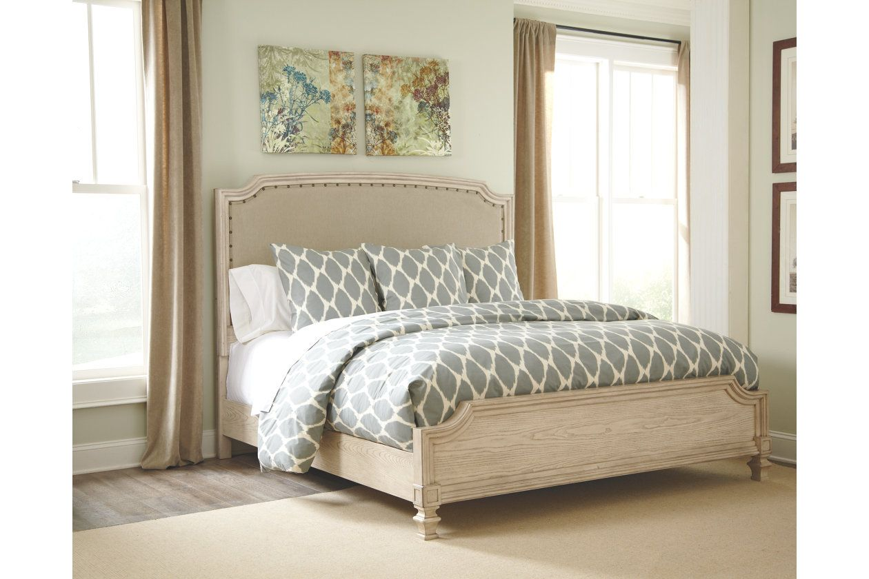 demarlos queen upholstered panel bed ashley furniture homestore rh pinterest com