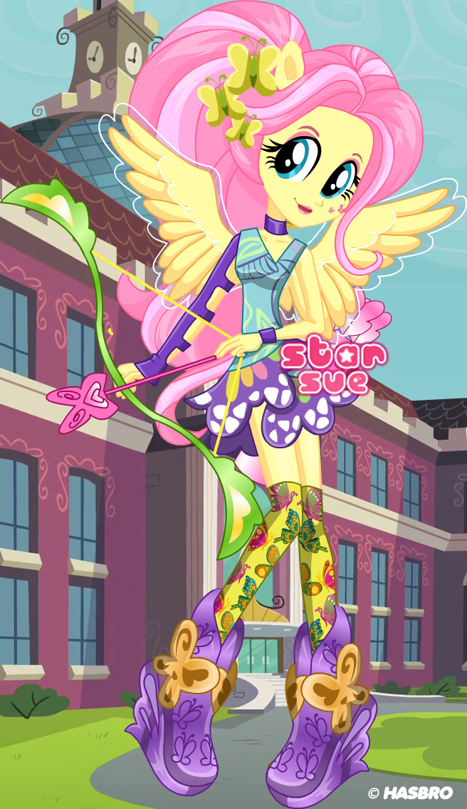 MLPEG Friendship Games Fluttershy Archery Style Dress Up ...
