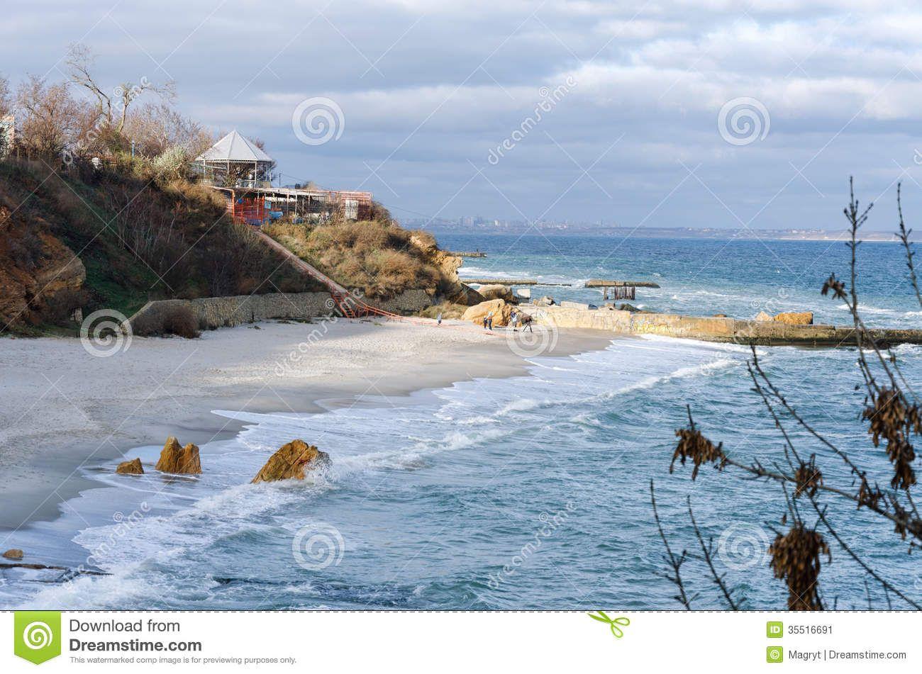 Black Sea Beach In Odessa Black Sea Beach Image