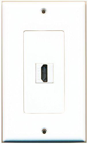 Riteav 1 Port Hdmi 2 0 Keystone Wall Plate White Riteav Plates On Wall Keystone Wall Custom Wall
