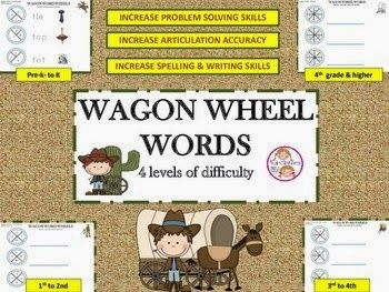 Howdy Partners! Have you been trying to advance articulation and also problem solving and literacy skills with your students? This is a fun freebie called Wagon Wheel Words.