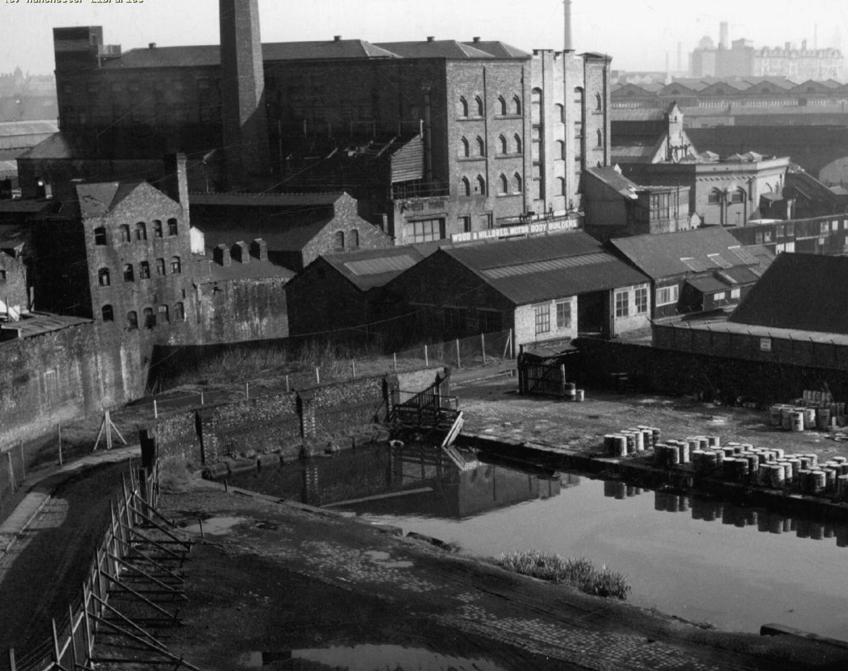 Potato Wharf Castlefield, from the railway viaducts