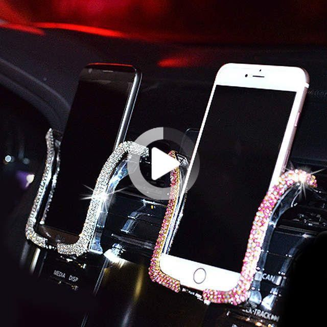 US $4.69 60% OFF|Universal Car Phone Holder with Bing Crystal Rhinesto