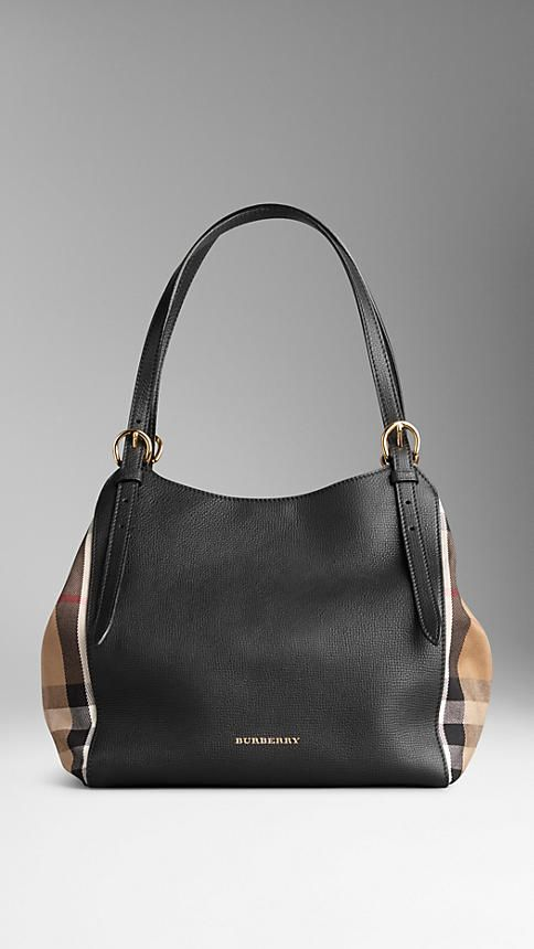 f057c09f1de1 Black The Small Canter in Leather and House Check - Image 3