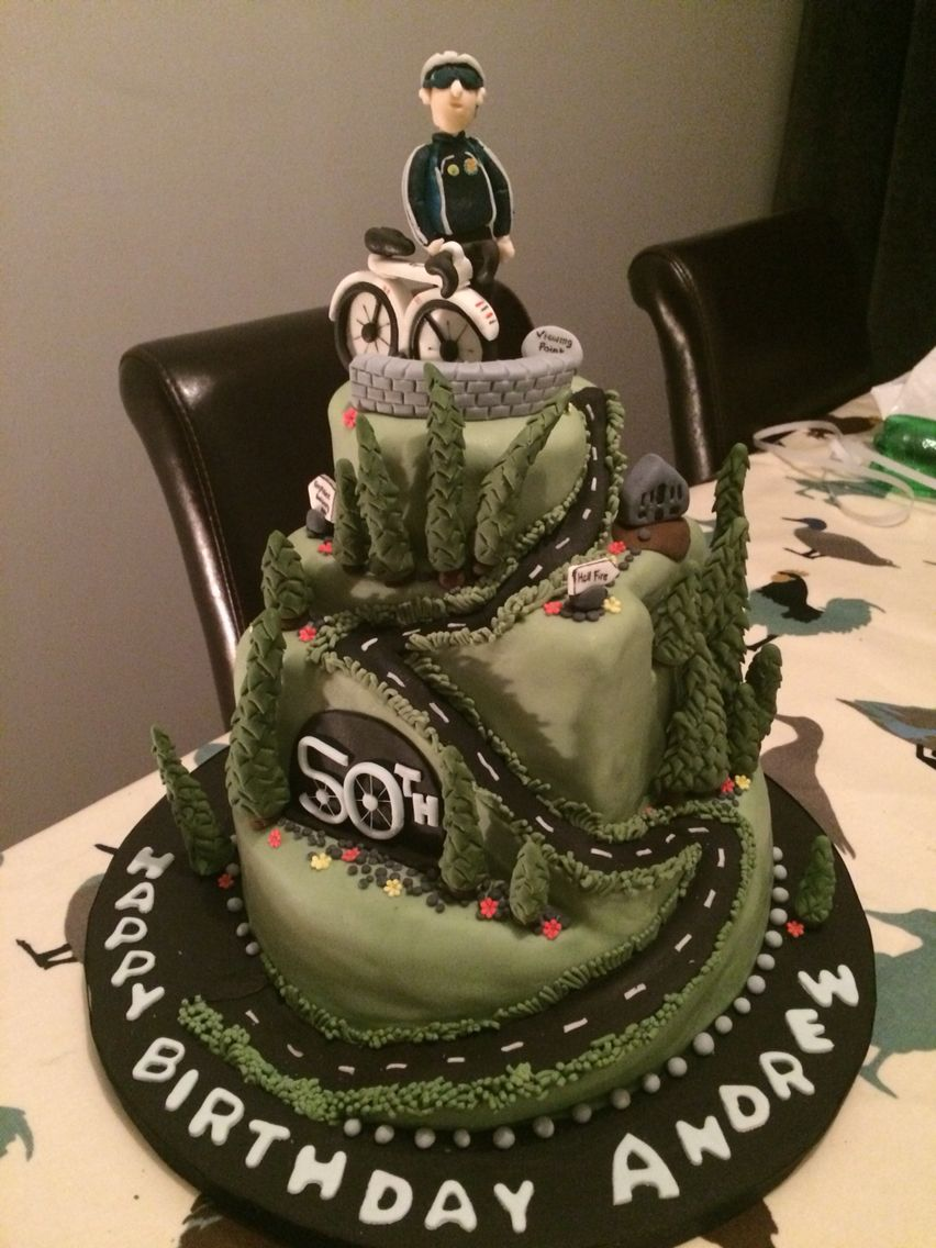 50th birthday cake for my brother Cycle up to the viewing point the