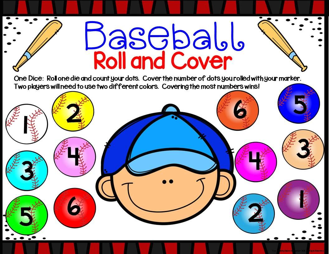Baseball Math Center Dice Games For K 2nd Special
