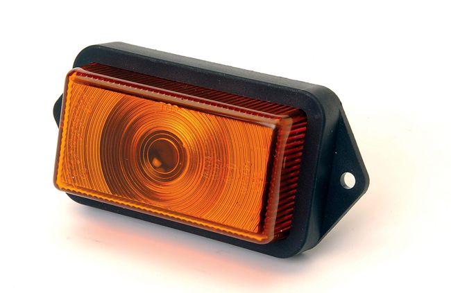Orange Plastic Side Marker Light