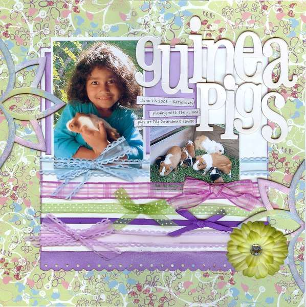 Guinea Pig Scrapbook Layouts Google Search Animal Layouts