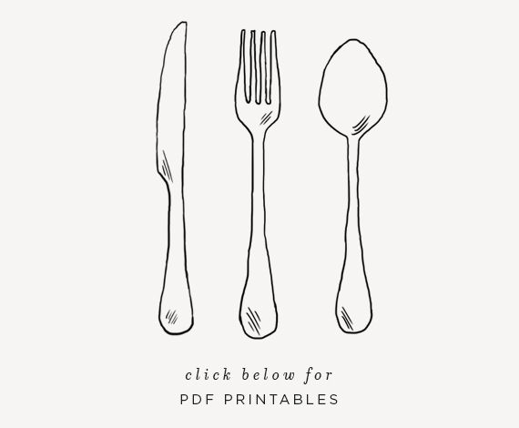 diy plasticware picnic bags (with free printable