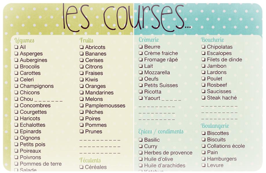 Häufig Liste de courses à imprimer | Liste de courses, Courses et Liste de ML17
