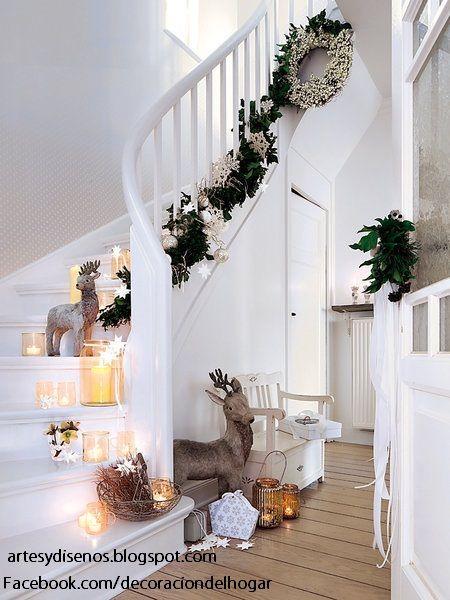 Como decorar escaleras para navidad by artesydisenos for Escaleras de adorno