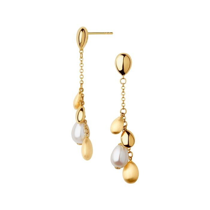 Eye Catching And Show Stopping Introducing Your New Jewellery Box Essential The Hope Yellow Gold Pearl Drop Earrings
