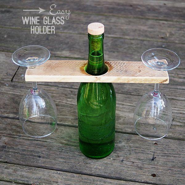 Wine Bottle Glass Holder Diy Wine Bottle Glass Holder Wine
