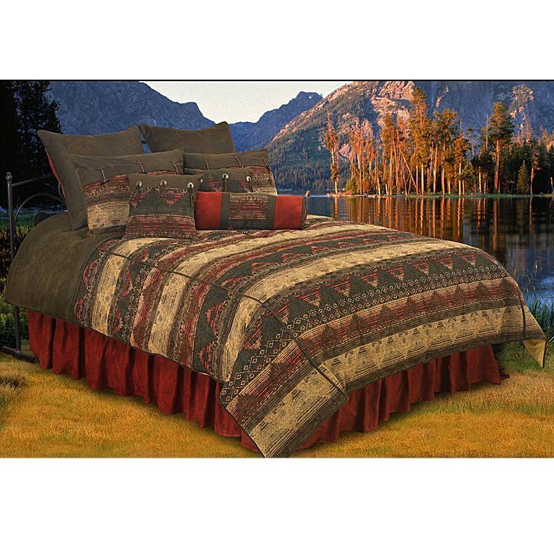 Sierra Southwestern Chenille Bedding Comforter Set Twin
