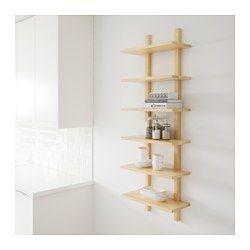 Varde Birch Wall Shelf 50x140 Cm Ikea Wall Shelves Shelves Ikea