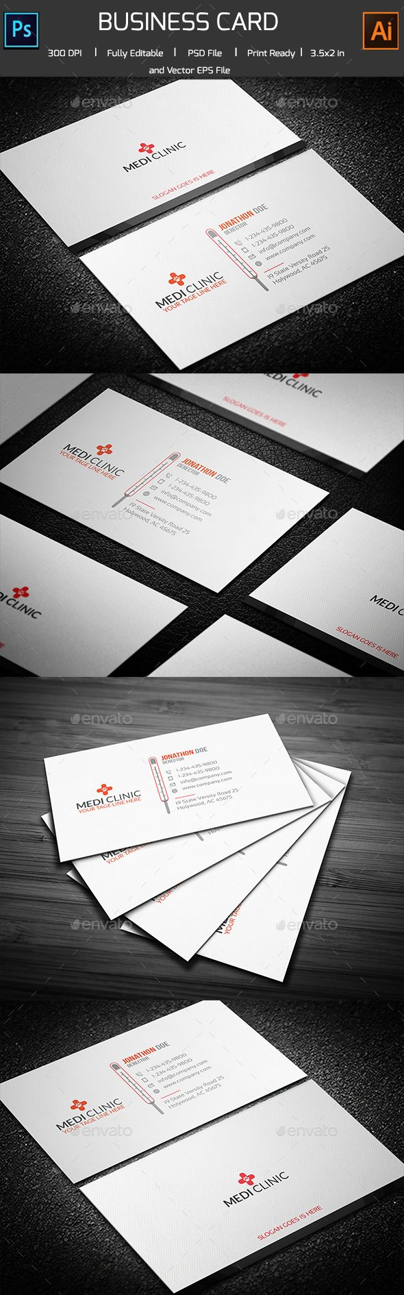 Medical/Thermal Business card | Business cards, Card templates and ...