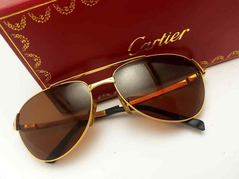 0ffa569dcd794 CARTIER EDITION SANTOS DUMONT 58MM Men s SUNGLASSES FRANCE  Cartier  Vintage