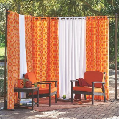 Our Freestanding Outdoor Curtain Rod With Posts Set Allows You To Easily Add Privacy Any E No Installation Required