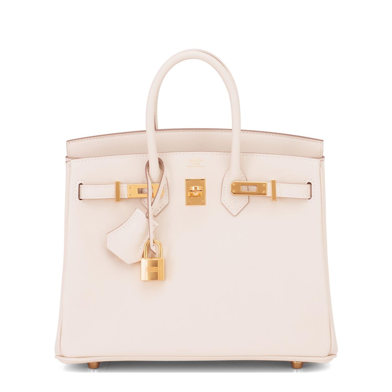 d86ff92bb7be Hermes Birkin Bag 25cm Craie Swift Gold Hardware