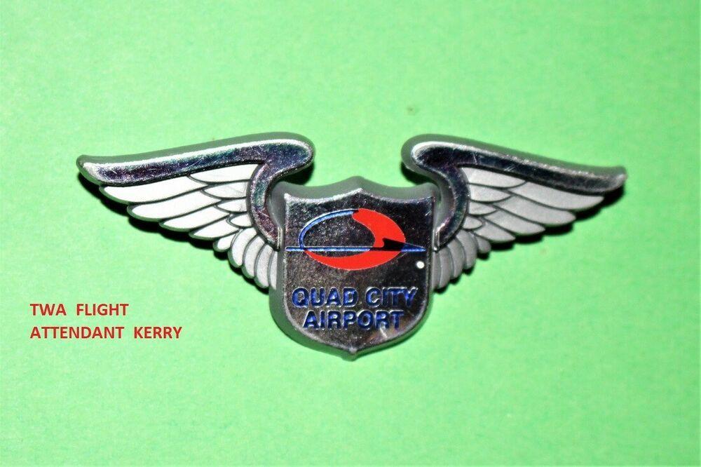 Quad City Airport Tower Aviation Plastic Junior Jr Pilot Kiddie Wings Badge Pin Airport Tower Airport City Quad Cities