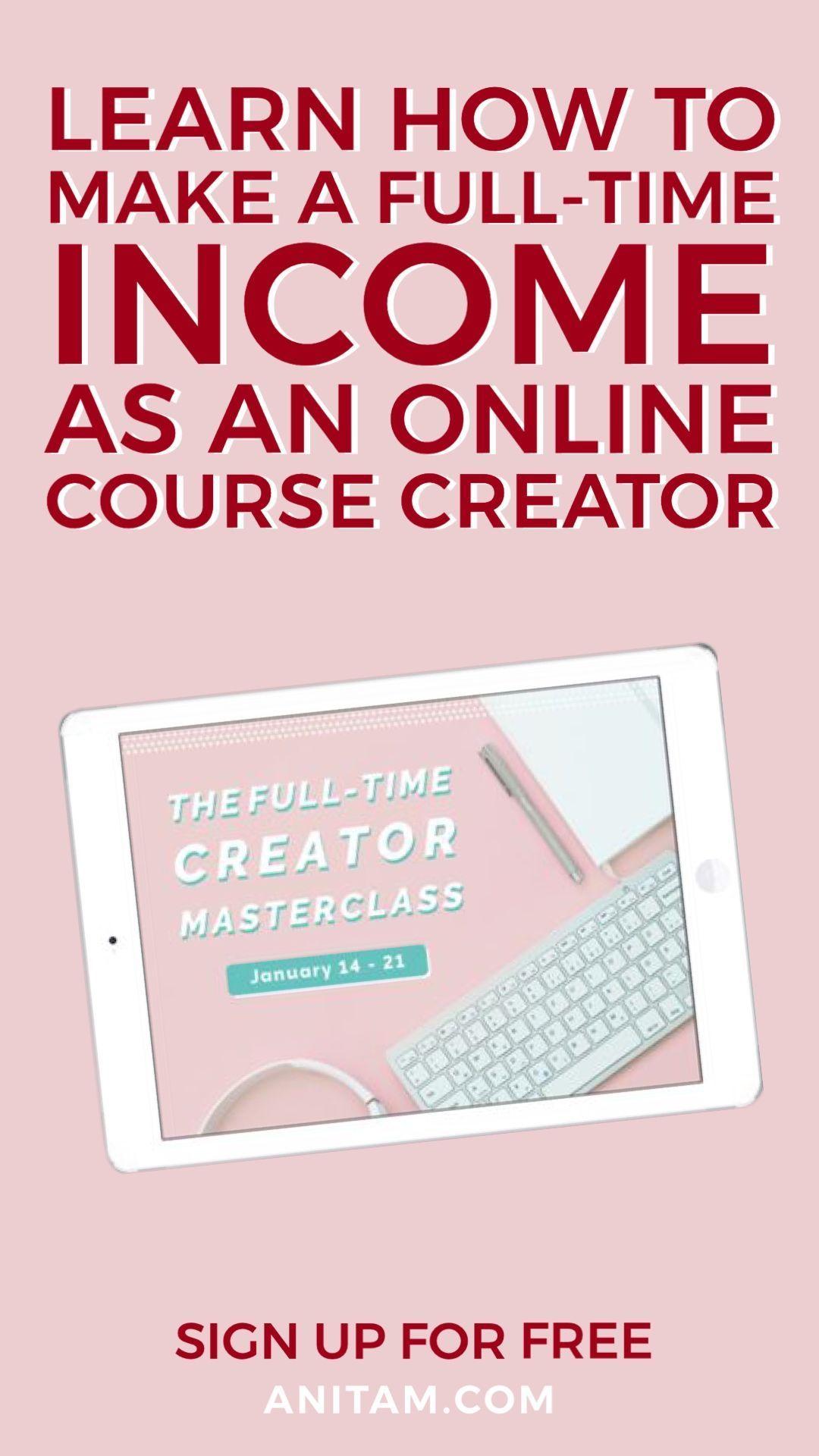 Course Creator Turn Your Passion Into Profit Anitam Create Online Courses Online Programs Online Course Design