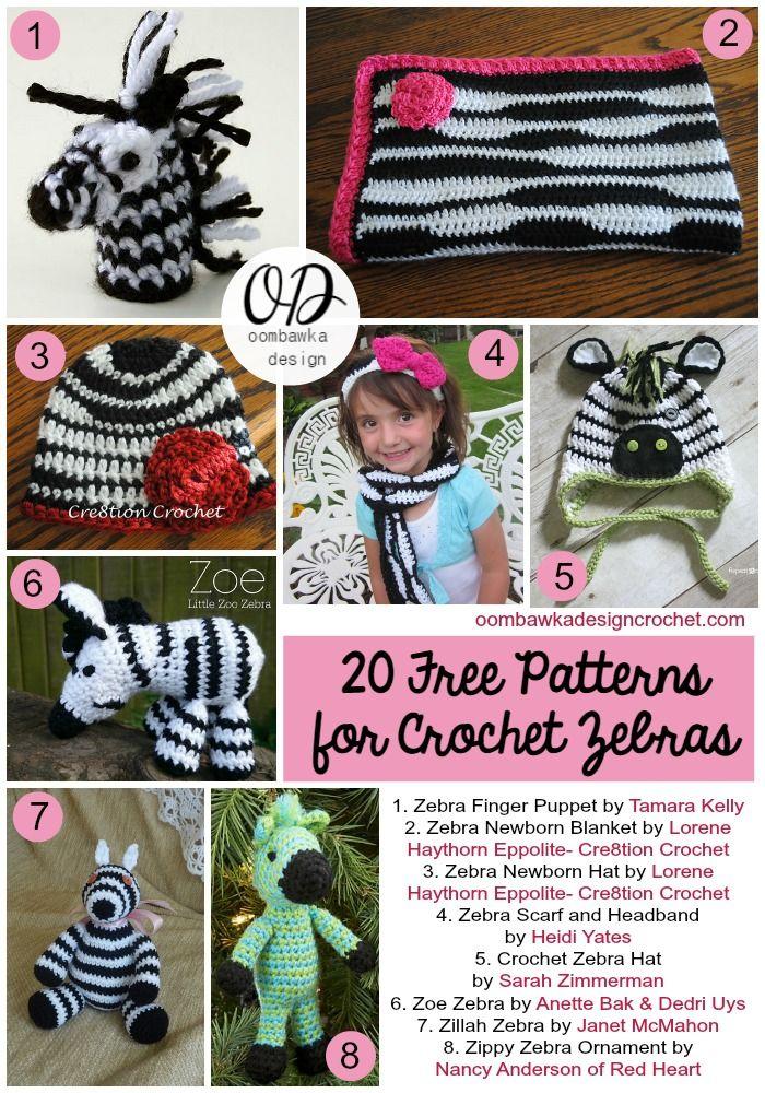 20 Free Patterns for Crochet Zebras | ganxet | Pinterest | Bebe y ...