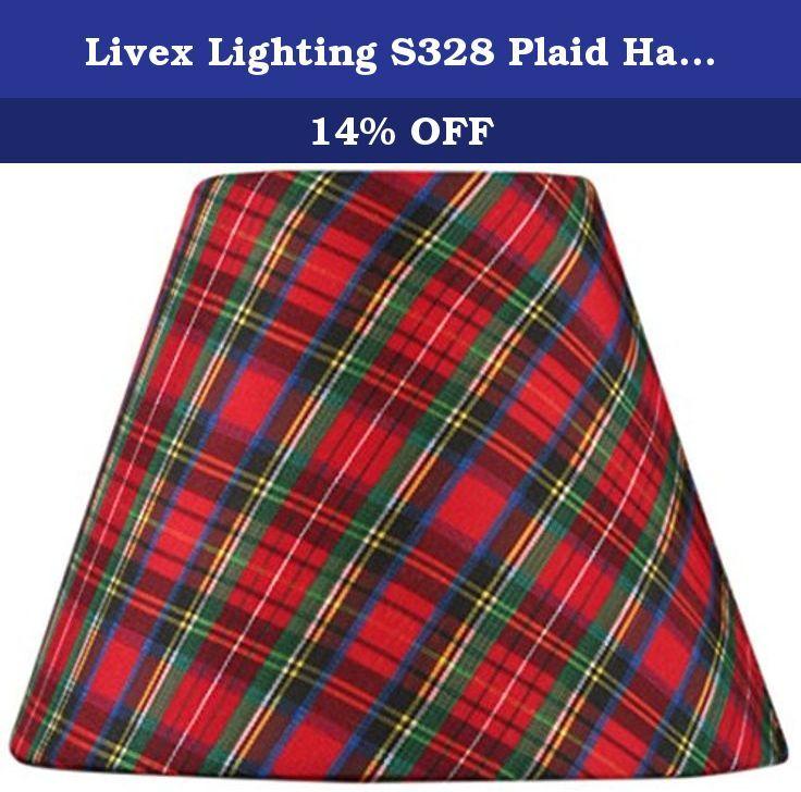 Livex Lighting S328 Plaid Hardback Clip Chandelier Shade. This ...
