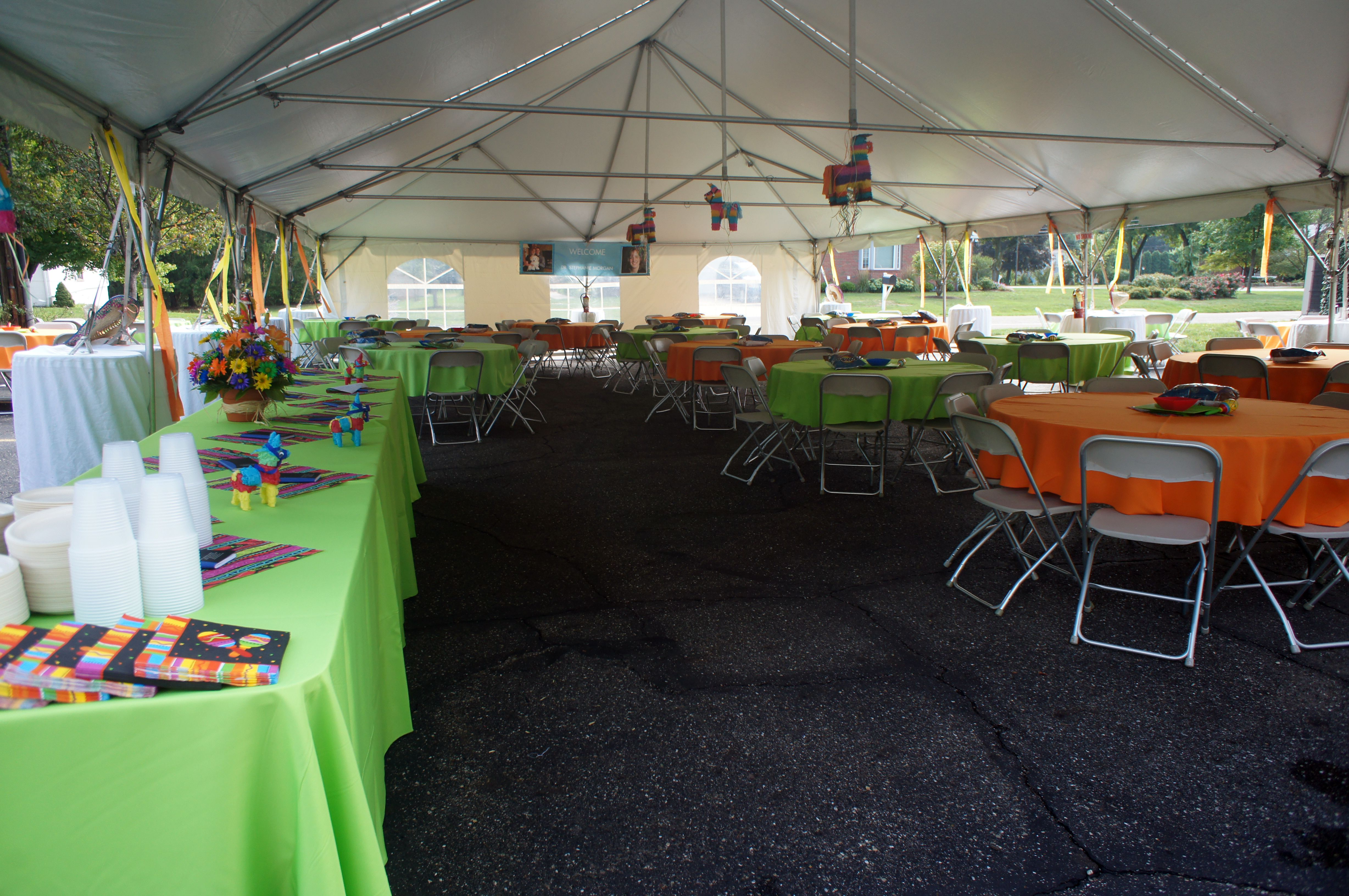 Fiesta was the theme for this outdoor summer event with