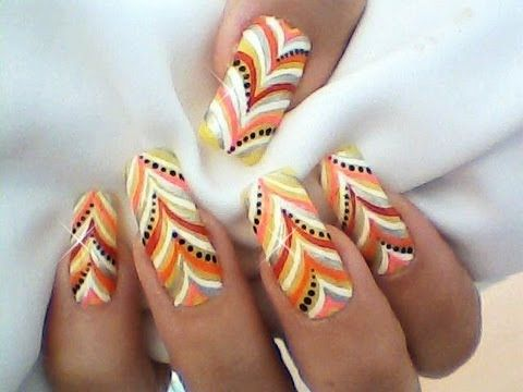 Marble Effect Nail Art Design Tutorial for Long Nails