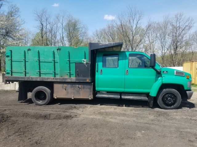 2005 Chevrolet C5500 Crew Cab Stake Body Dump Truck Trucks For