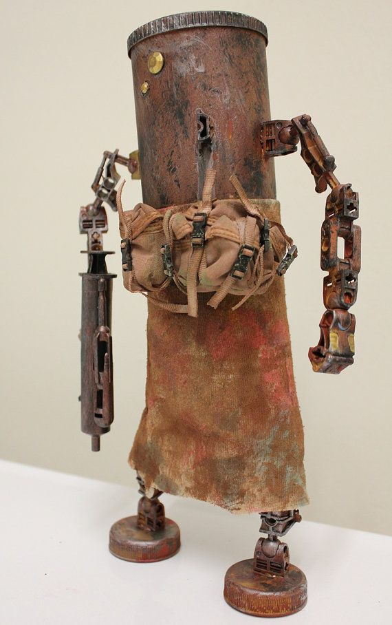 Awesome robot handmade by a solider from junk found on base.