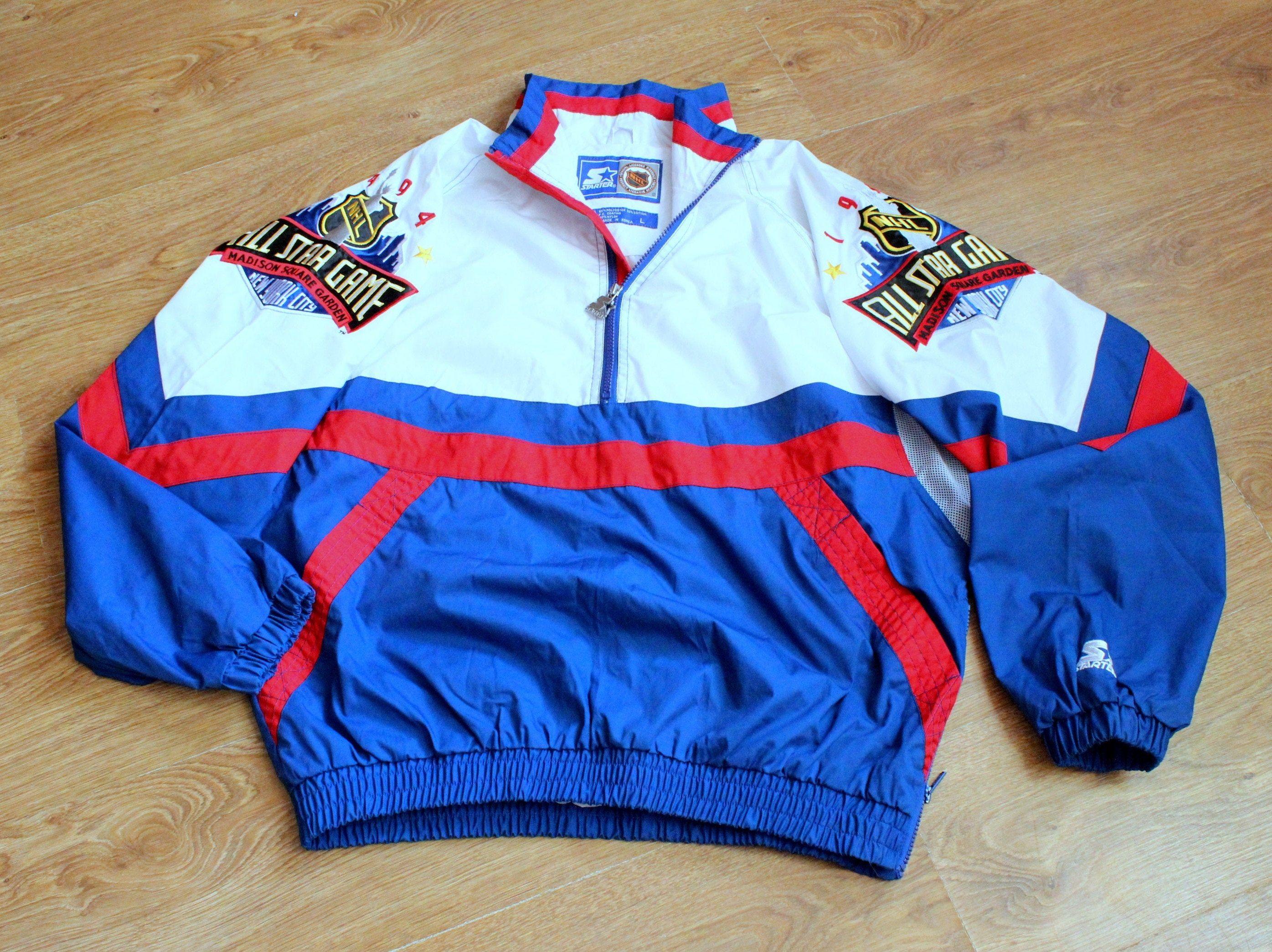 Starter Jacket All Star Game Half Zip Nhl Hockey Track Jacket 1990s Mens Sportswear Windbreaker In 2020 Mens Sportswear Windbreaker Jackets