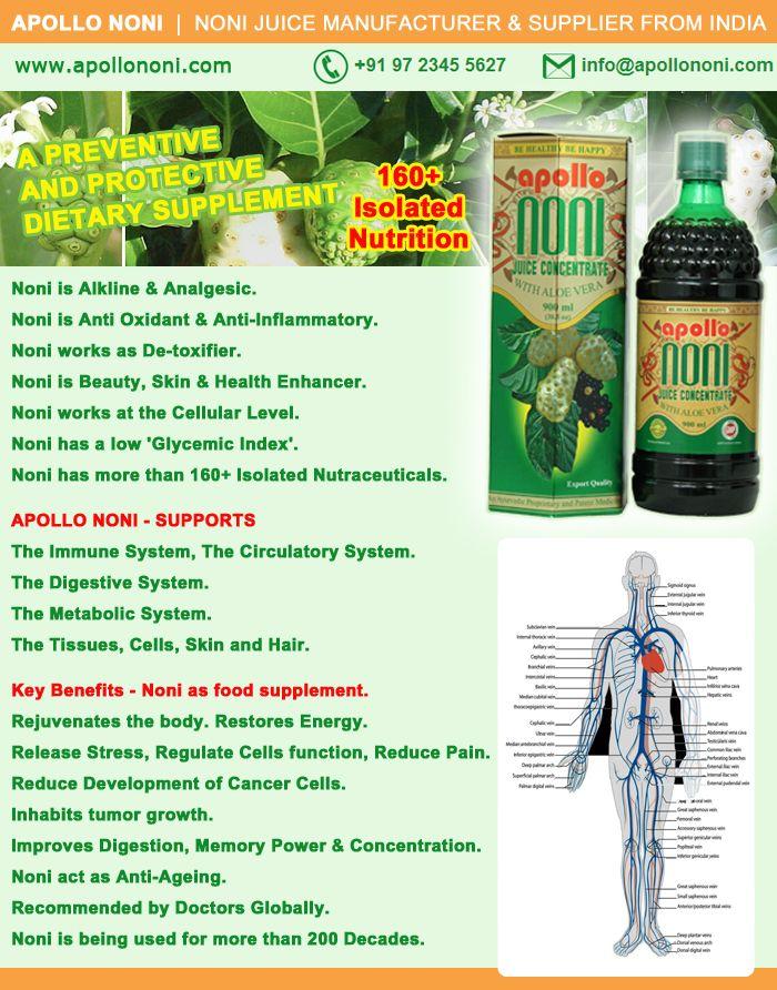 Noni Concentrate 650 Mg: BENEFITS OF REGULAR USE OF APOLLO NONI JUICE : All The
