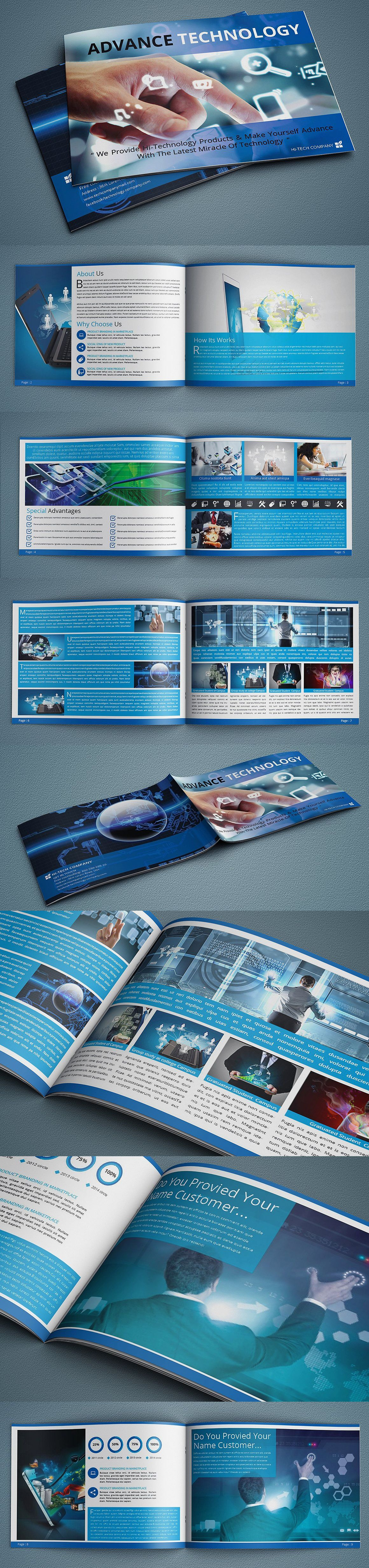 Advance Technology Brochure Template Indd Pdf  Brochure Design