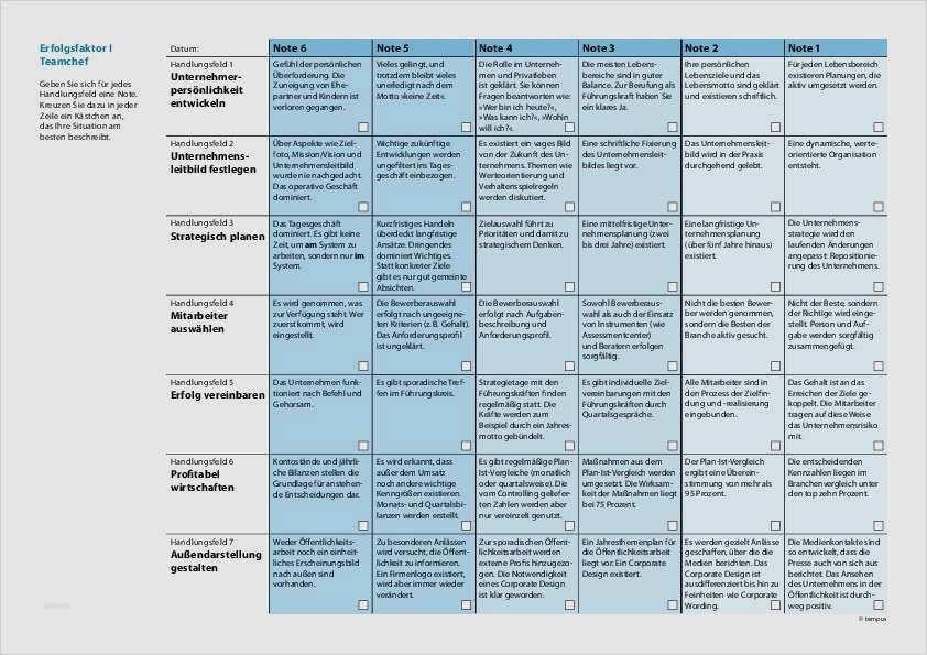 Anforderungsprofil Muster Kostenlose Vorlage 4
