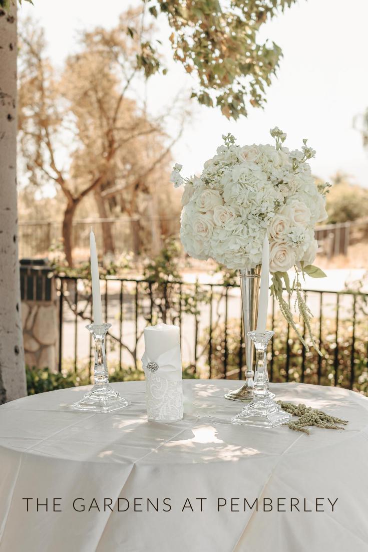 Kimberly And Jeremy Alta Loma California Part One Ceremony Arrangement Wedding Ceremony Flowers Elegant Bridal Bouquets