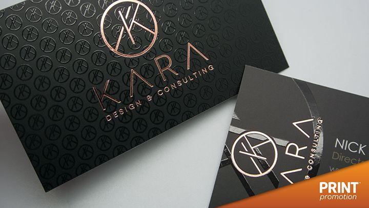Gold foil embossed business cards