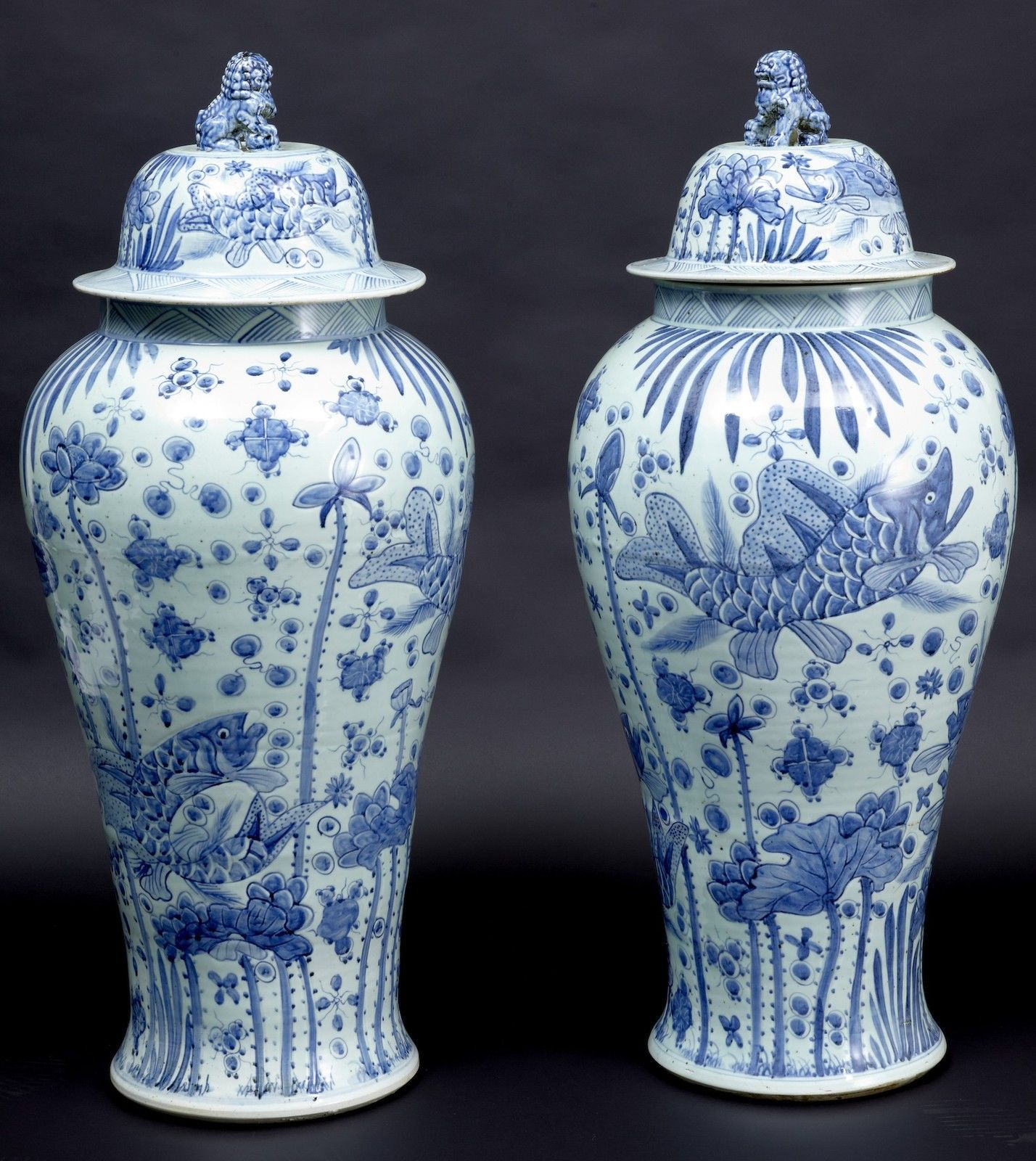 Pair of chinese massive blue and white vases with lids art pair of chinese massive blue and white vases with lids reviewsmspy