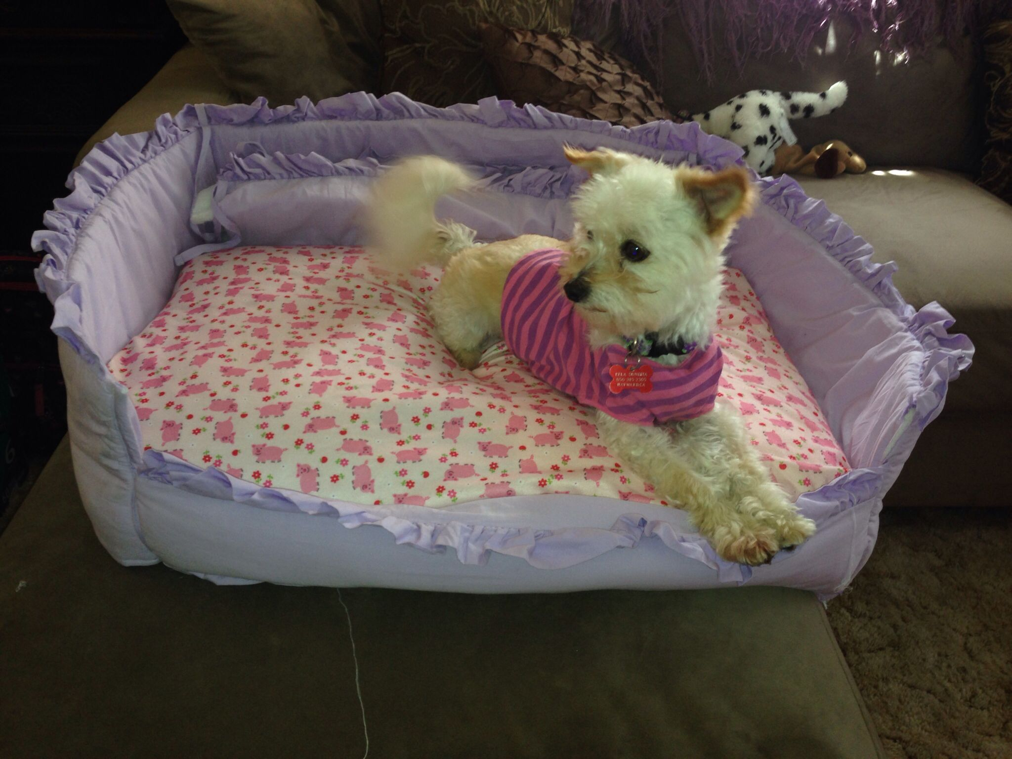 Up Cycled Crib Bumper Pad Into A Dog Bed Fun Projects