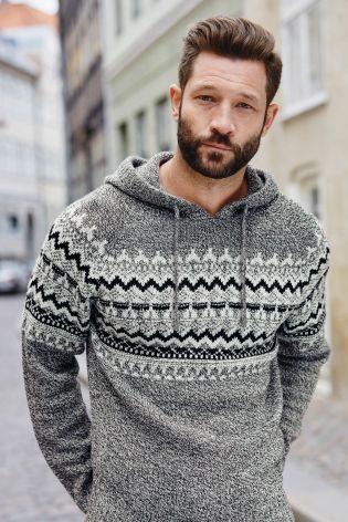 Buy Grey Fairisle Pattern Hoody from the Next UK online shop ...