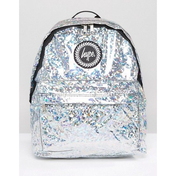 2c4f151c2559 Hype Holographic Galvanised Backpack ( 31) ❤ liked on Polyvore featuring  bags