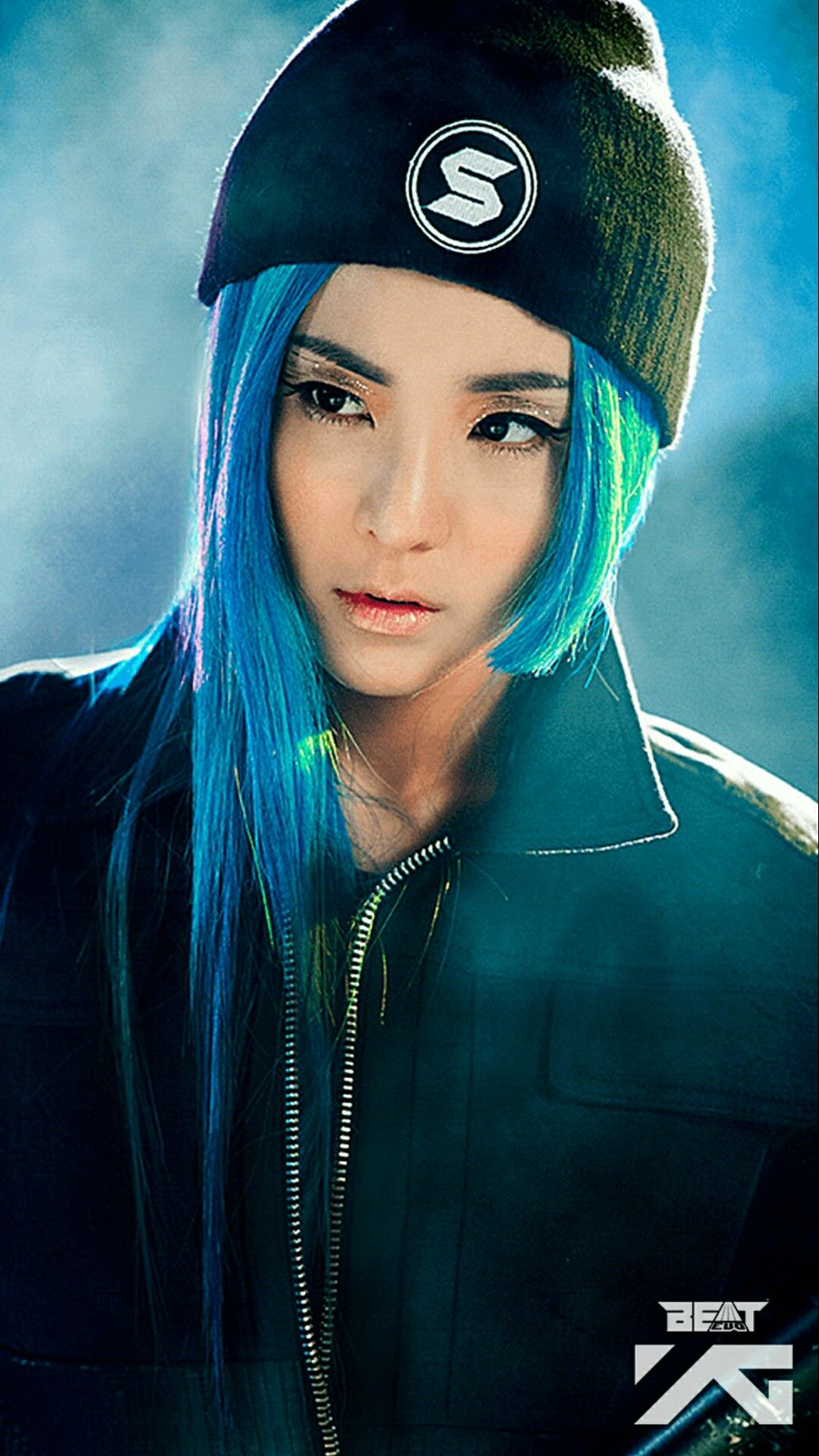 Swag with blue hair dara sandarapark wallpaper - 2ne1 come back home wallpaper ...