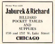 Chicago Billiard Museum Image Of  Of Our Old Billiard Directory