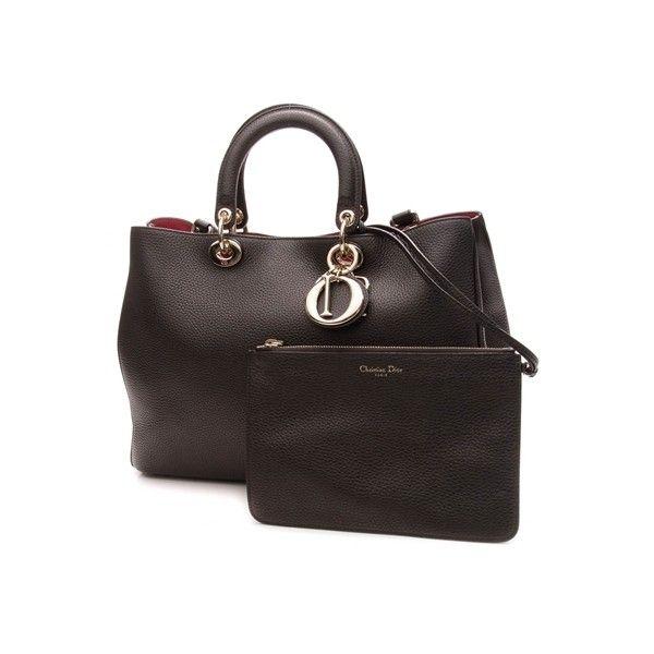 Pre Owned Dior Black Bull Calf Leather Large Diorissimo Bag 2 270