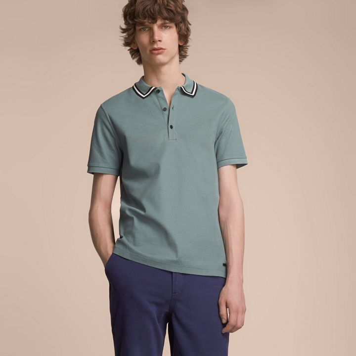 burberry pique polo mens