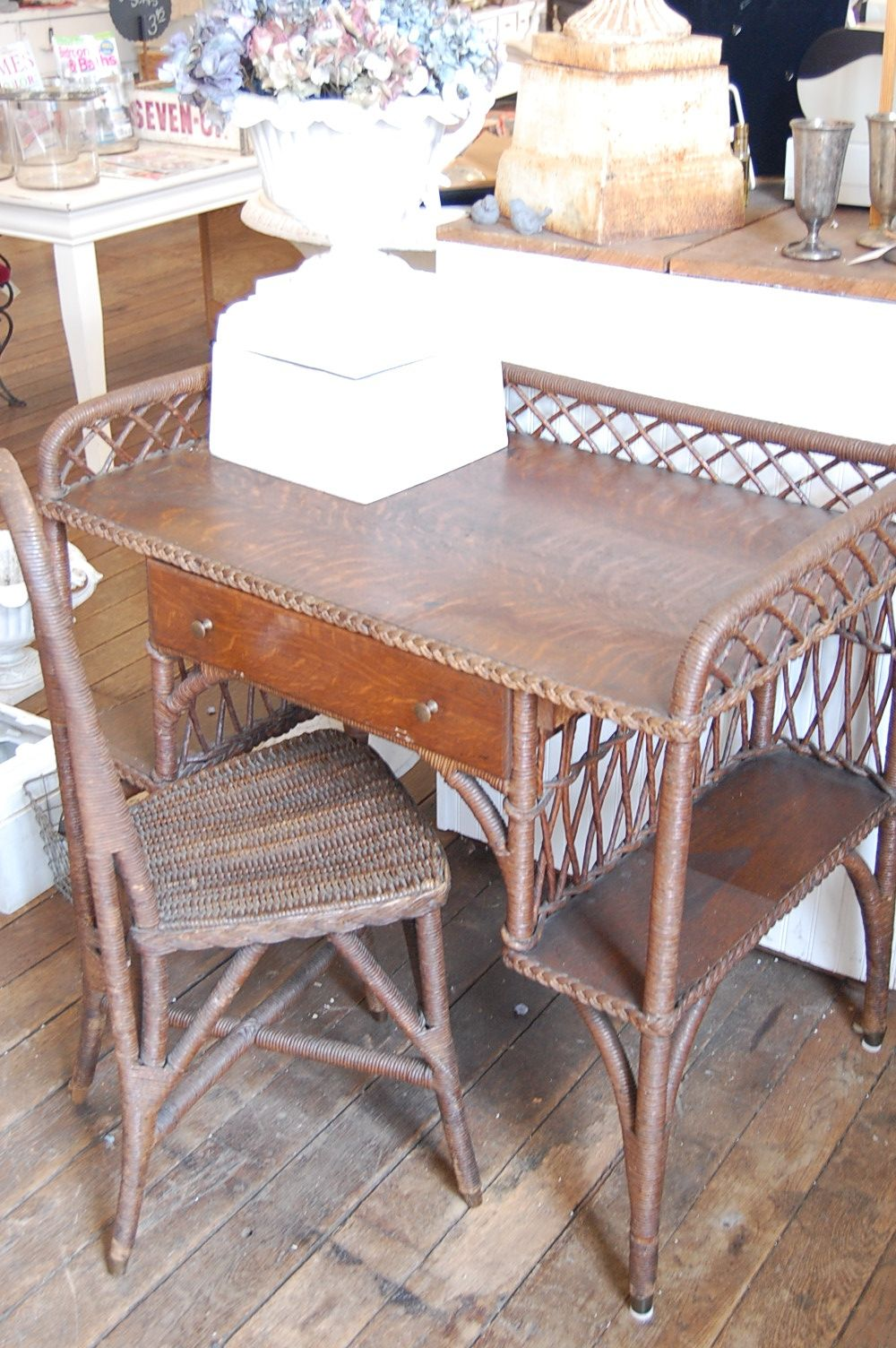 Antique Wicker Desk And Chair - Antique Wicker Desk And Chair Raisin In The Sun Pinterest Desks